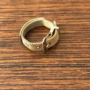 Vintage Adjustable Gold Belt Ring